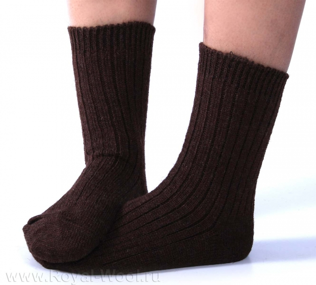 Верблюжьи носки коричневые