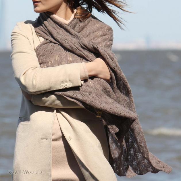 Ажурный женский шерстяной палантин