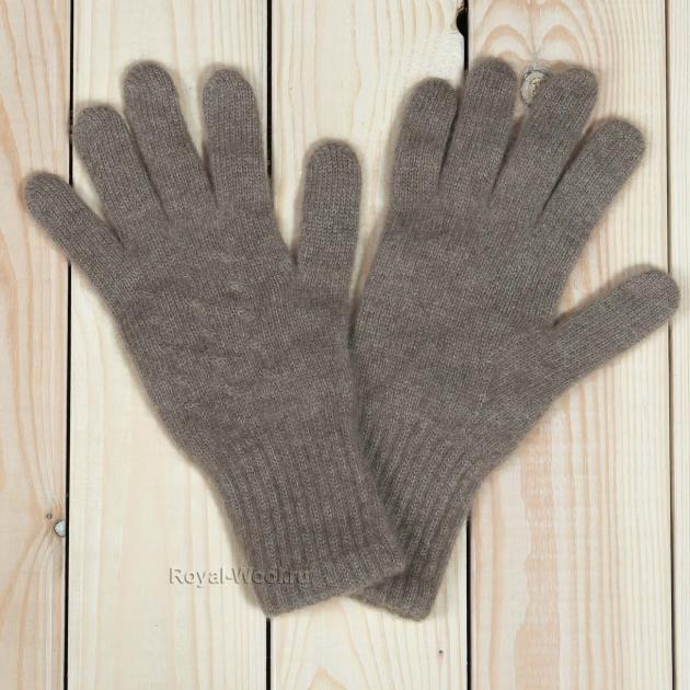 Бежевые перчатки из кашемира