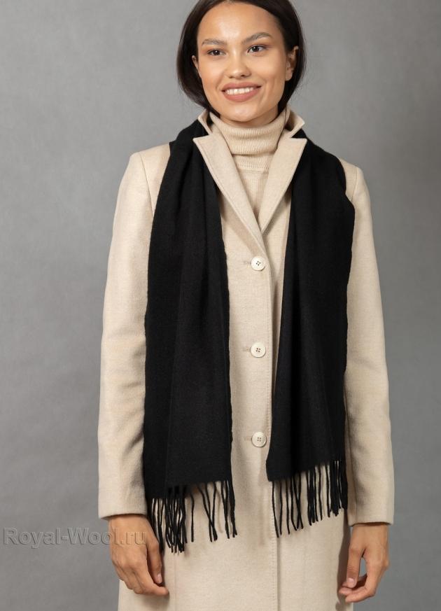 Черный кашемировый шарф