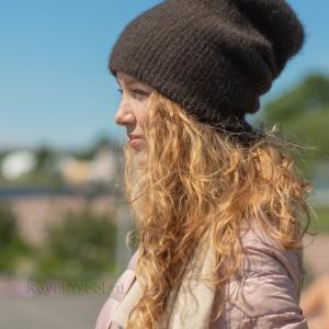 Двойная шапка из шерсти яка