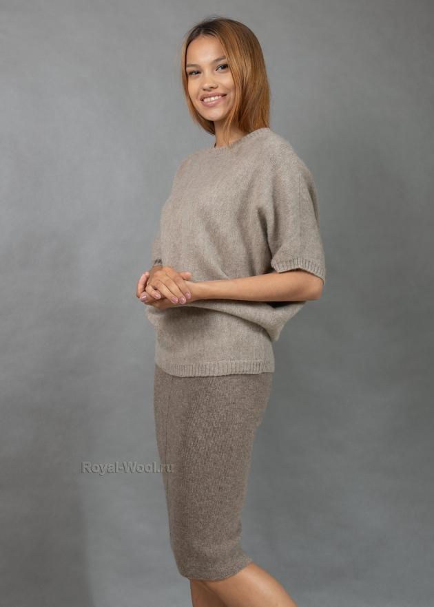Джемпер из шерсти яка женский
