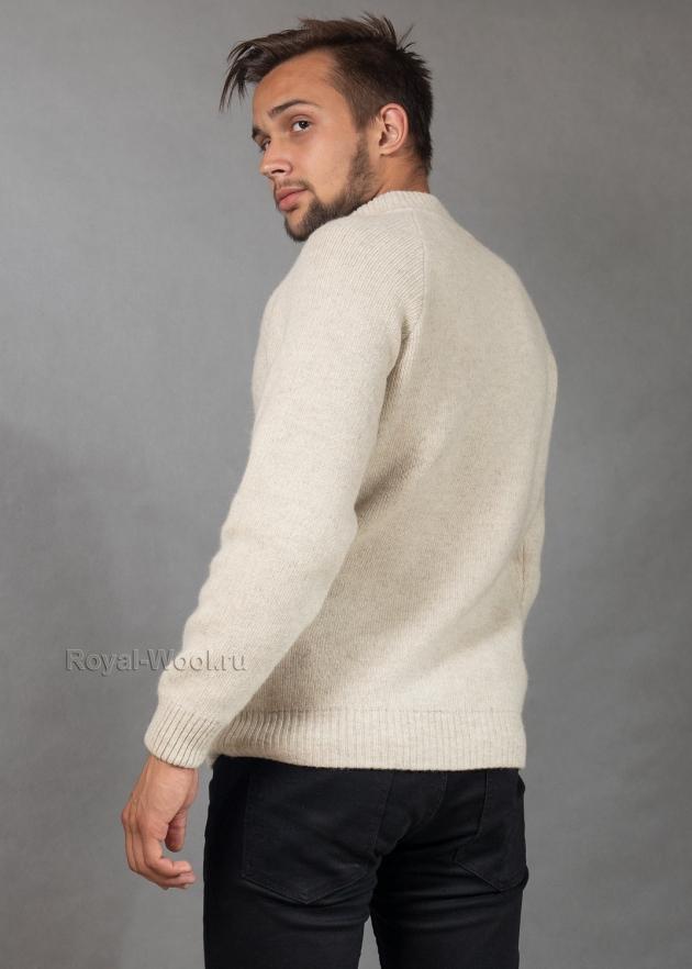 Джемпер мужской на молнии из шерсти