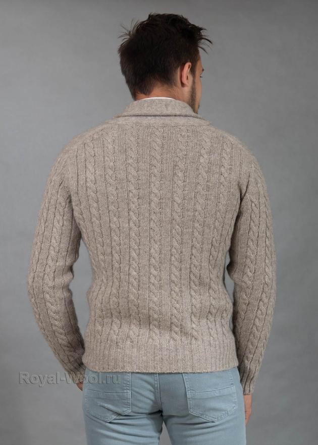Кардиган мужской шерстяной