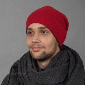 Кашемировая шапка двусторонняя