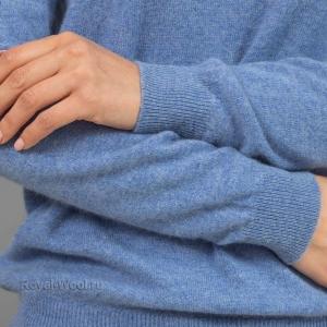 Кашемировый голубой джемпер