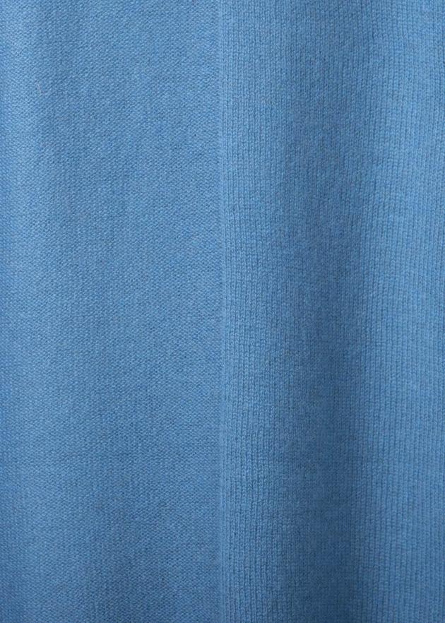 Кашемировый палантин голубой