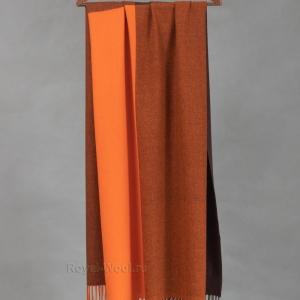 Кашемировый оранжевый палантин