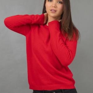 Красный джемпер из кашемира