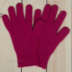 Бордовые кашемировые перчатки