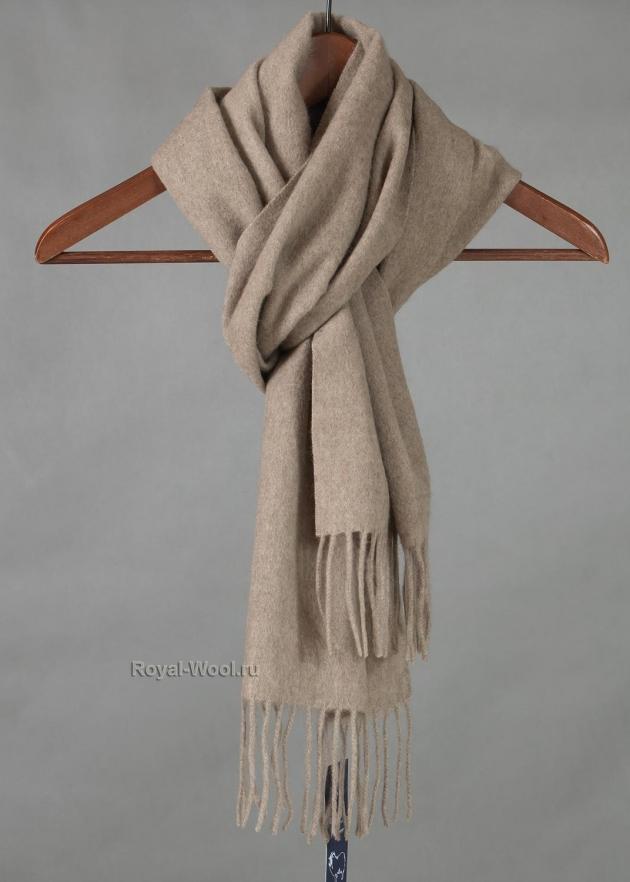 Мужской шарф из кашемира бежевый