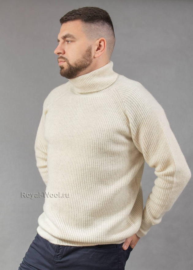 Мужской теплый зимний свитер