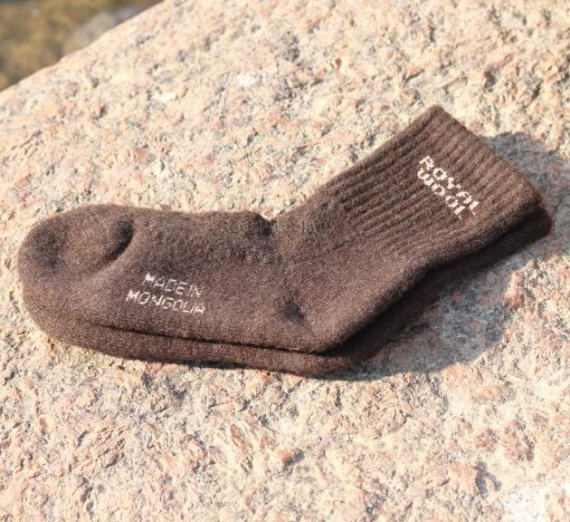 Носки из шерсти яка коричневые