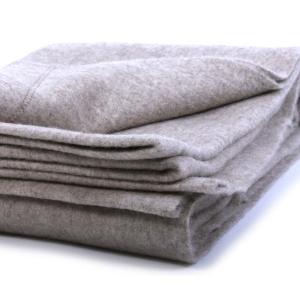 одеяло из шерсти яка серое