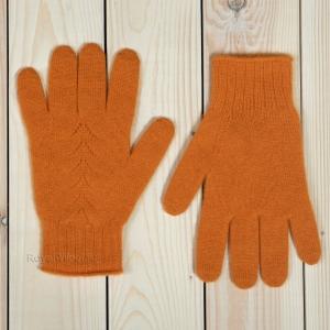 Оранжевые кашемировые перчатки