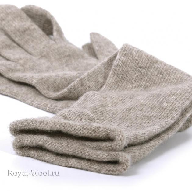 Перчатки шерсть яка длинные