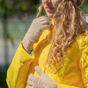 перчатки шерсть верблюжья женские