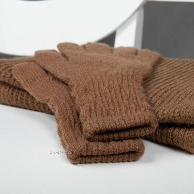 Перчатки шерстяные верблюжьи женские