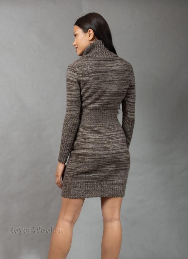 Платье шерсть яка