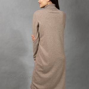 Платье кашемир темно-бежевое