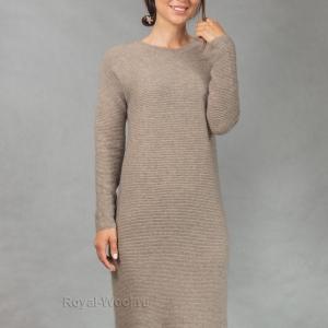 Платье кашемировое бежевое
