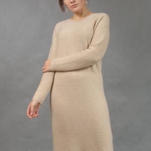Платье из кашемира светлое