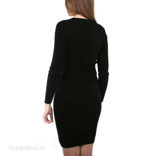 платье кашемир черное