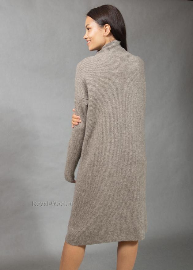 Платье шерстяное с рукавами