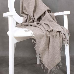 Платок из шерсти яка серый