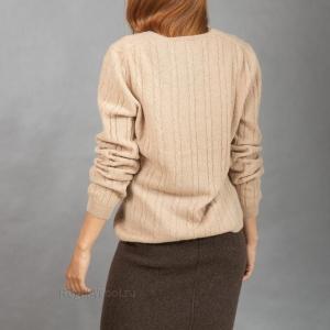 Женский пуловер из верблюжьей шерсти