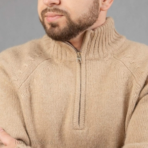 пуловер поло мужской из верблюжьей шерсти