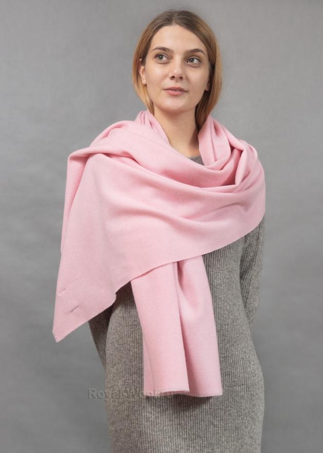 Розовый кашемировый палантин