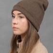 Женская шапка бини цвет капучино фото2