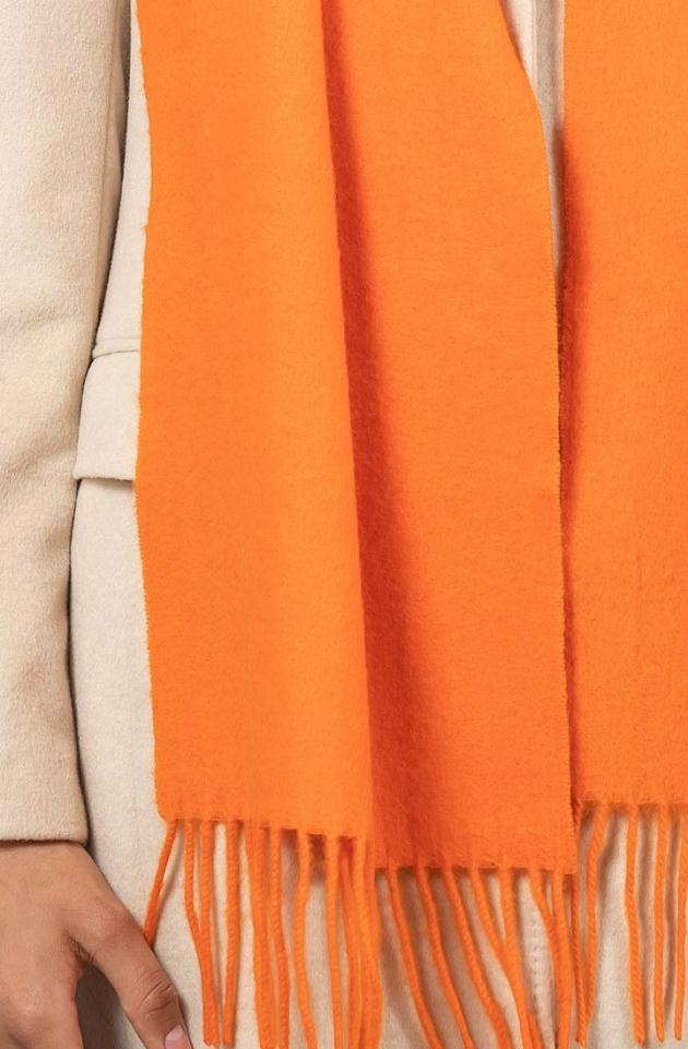 Шарф из кашемира оранжевый