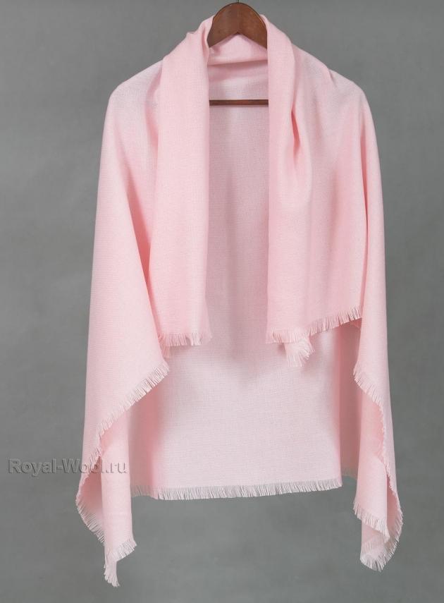Шерстяной платок розовый