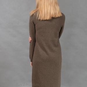 Шерстяное платье капучино