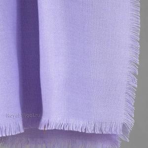 Шерстяной платок сиреневый