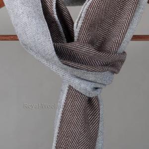 Шерстяной серо-коричневый шарф