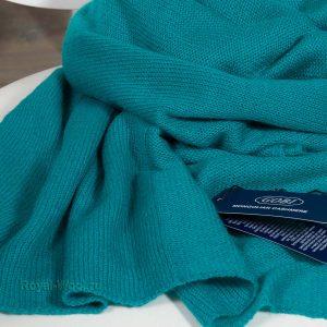 Сине-зеленый кашемировый палантин