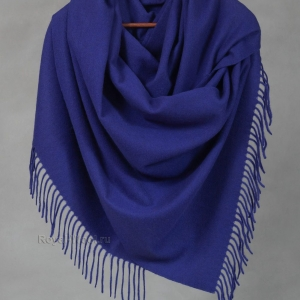 Синий палантин кашемир