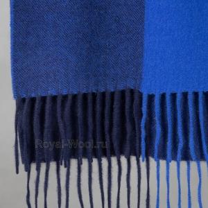 Кашемировый синий шарф