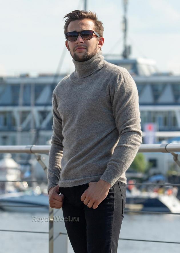 свитер из шерсти яка мужской