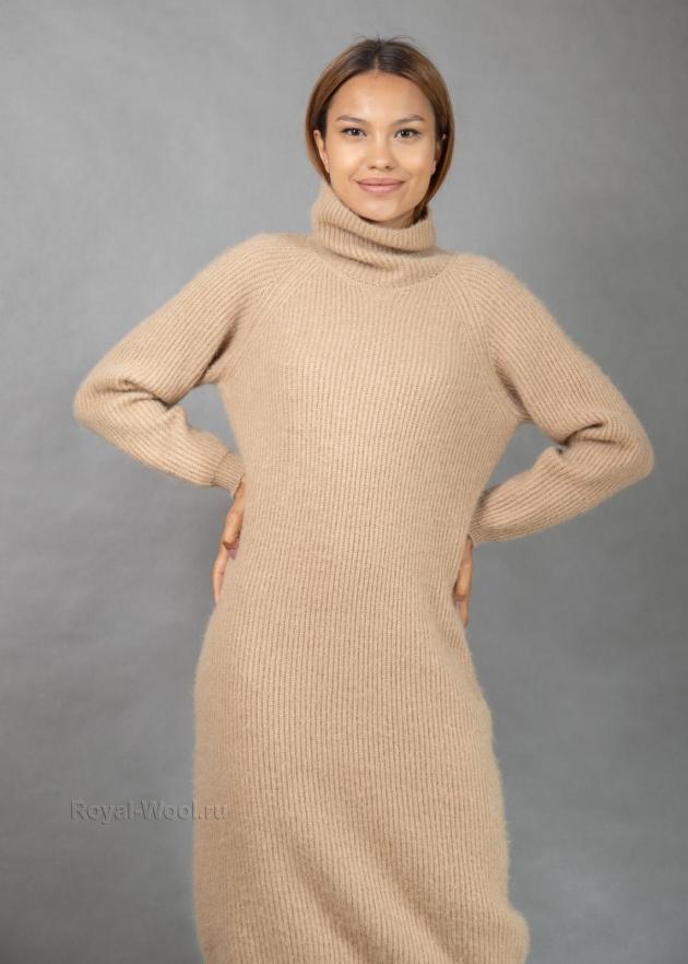 Теплое платье верблюжья шерсть