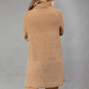Трикотажное укороченное пальто