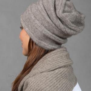 Женская шапочка шерсть яка