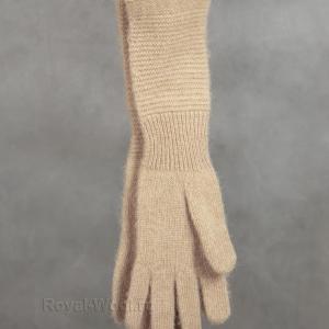 Женские перчатки верблюжья шерсть