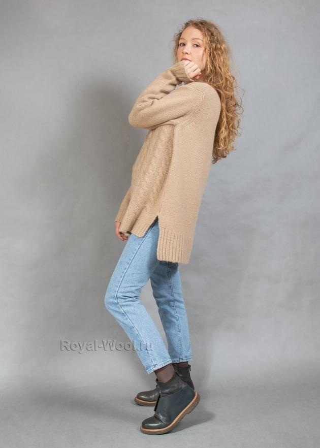 Женский джемпер из верблюжьей шерсти