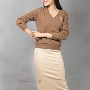 Женский пуловер шерсть верблюжья