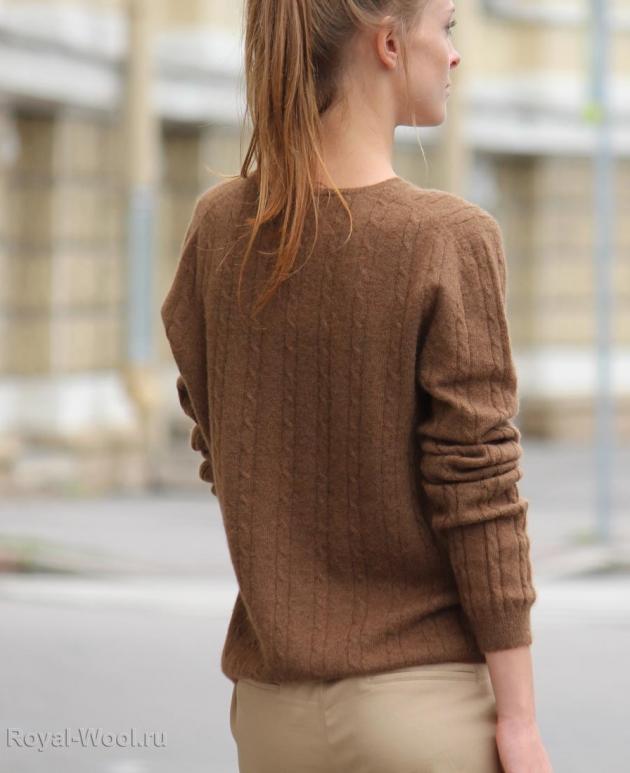 Женский пуловер верблюжья шерсть