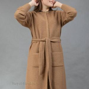 Женское трикотажное пальто